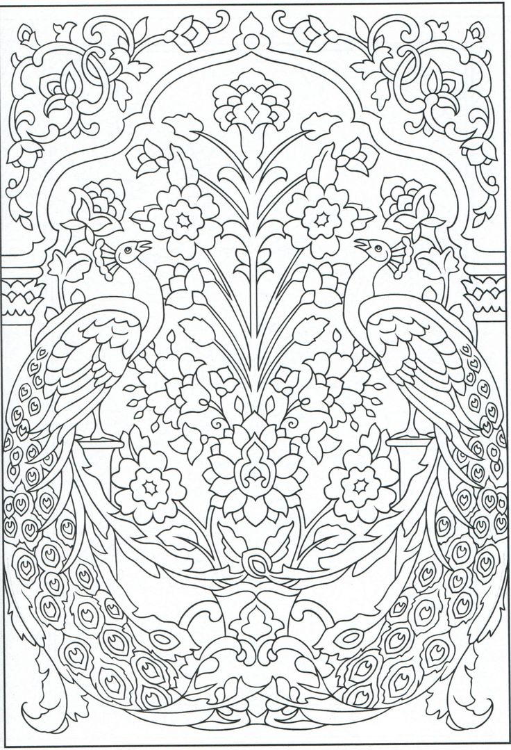 Free coloring pages of peacock feathers coloring everyday printable - Peacock Coloring Page For Adults 1 31