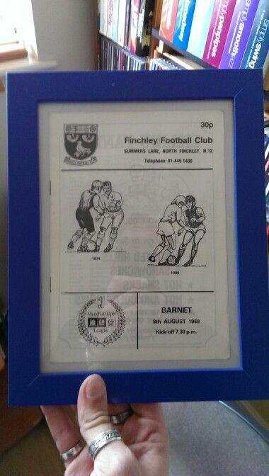 Friendly program vs Barnet 1989