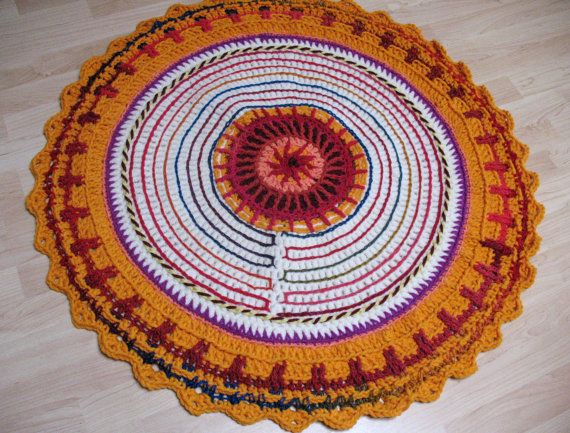 Knit Rug Area Rug Traditional Designer Decor Boho by Bennelle