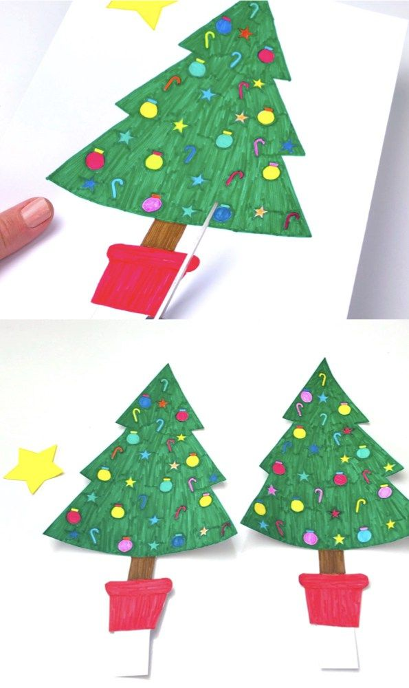 Paper Christmas Tree With Images Pinterest Christmas Crafts Paper Christmas Tree Christmas Tree Crafts