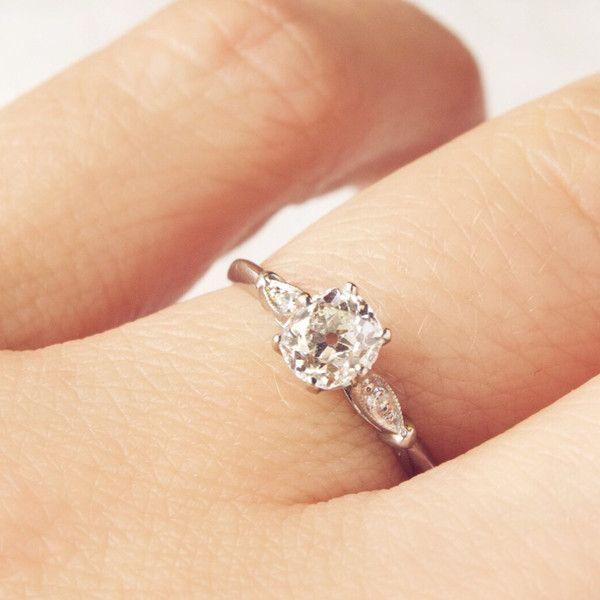 0.55 ct OMC Edwardian Engagement Ring