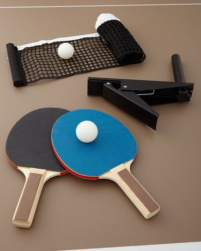 Neiman+Marcus+Chester+Pool+Table+with+Table+Tennis+Conversion+Set+Furniture+|+Home