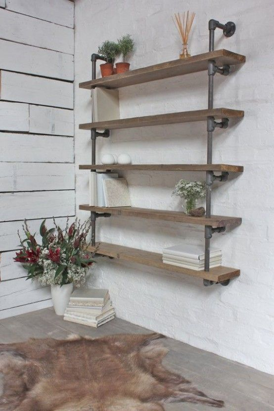 30 Awesome Industrial Shelves And Racks For Any Space | DigsDigs