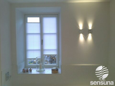 Feuchtraumgeeignetes Sichtschutz Plissee / Damp Location Suitable Pleated  Blinds #weiss #white #badezimmer #