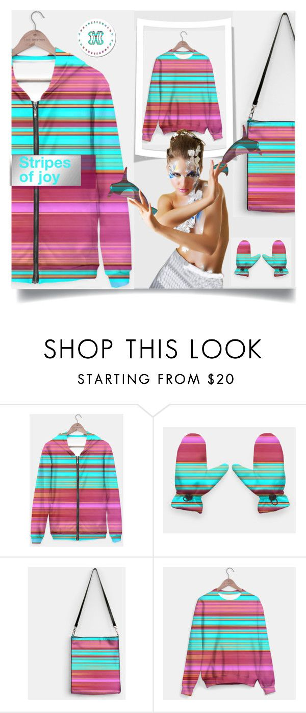Stripes of joy :) by annabellerockz on Polyvore featuring outfit, stripes, bag, gloves and Annnabellerockz