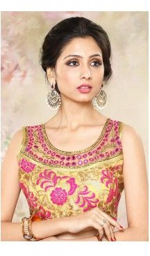 Beige Color Brocade U Neck Designer Readymade Blouse   FH511777918 #readymade, #blouses, #wholesale, #plain, #sarees, #designer, #online, #heavy, #backless, #shopping, #unstitched, #patterns, #party, #women, #girls, #stitched, #designer, #brocade, #cotton, #Chanderi, #velvet #blouses, #heenastyle, @heenastyle , #sari