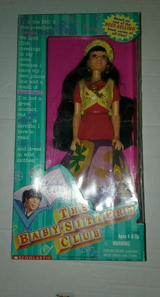 """1998 Kenner The BABY SITTERS CLUB 11"""" Doll  Claudia Kishi SCHOLASTIC NEW IN BOX #Kenner #DollswithClothingAccessories"""