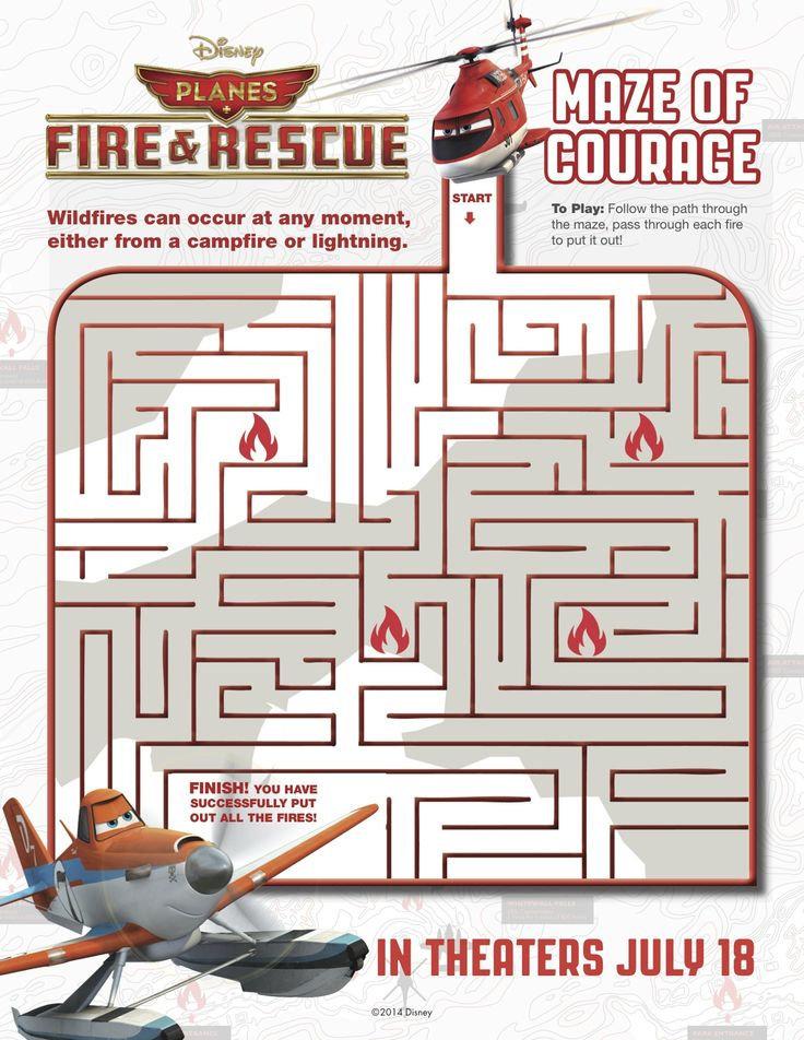 Follow the path through the maze, pass through each fire to put it out! Disney's Planes: Fire & Rescue in theatres July 18.