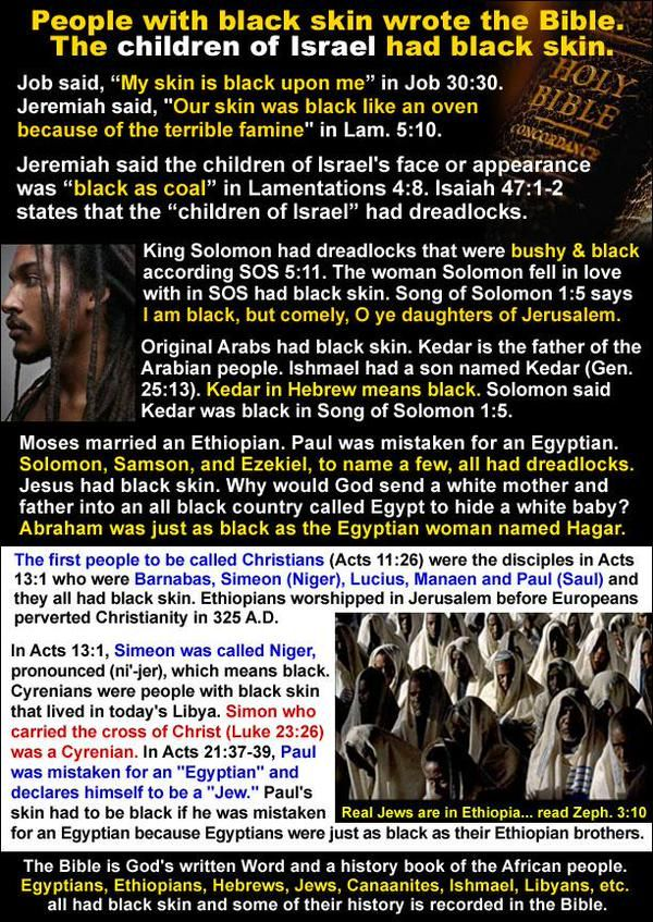 "Moses was black also... in Exodus 4:6-7 ""And the LORD said furthermore unto him…"