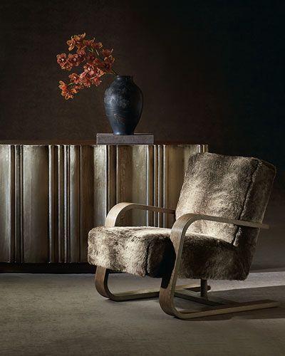 Unique  HFC Bernhardt Augusta Faux Fur Chair