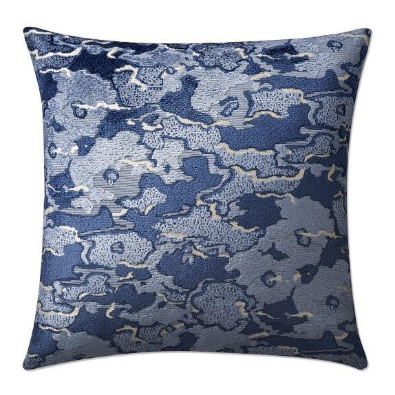 Cumulus Velvet Jacquard Pillow Cover Blue Pillow Decorative Bedroom Decorative Pillows Pillows Decorative Diy