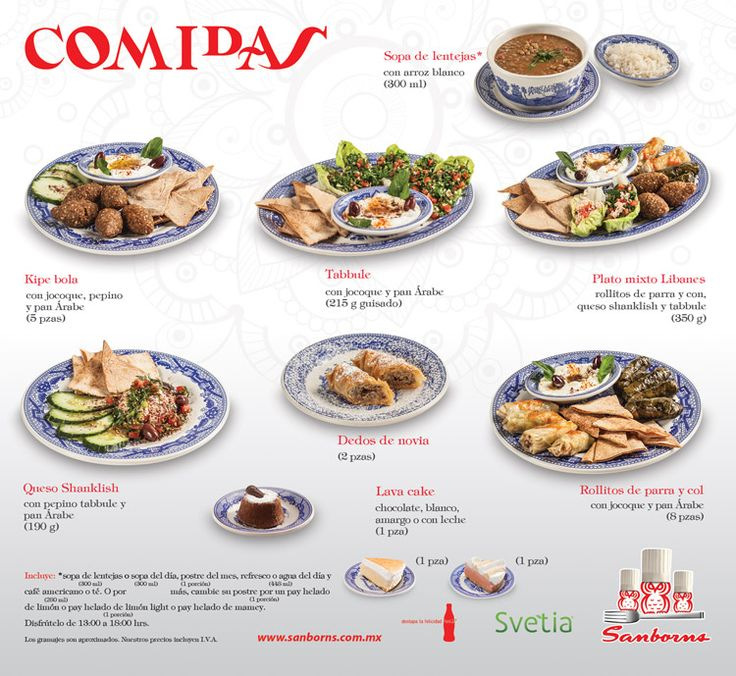 S lo sanborns platillos de cafeteras restaurant 2016 1 for Menu de sanborns