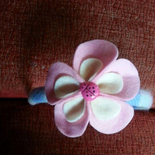 #cerchietto #fiore #pannolenci