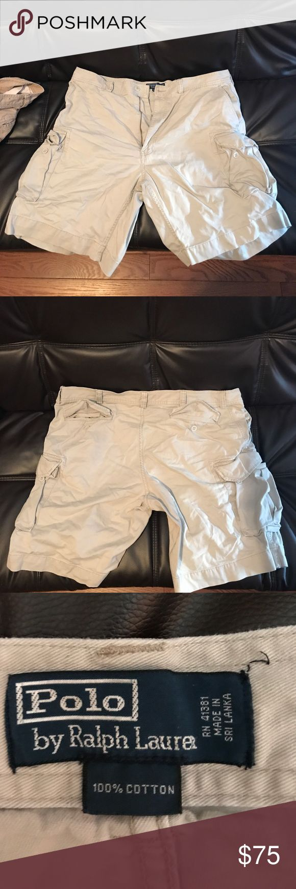 Polo Ralph Lauren cargo shorts size 40 EUC Gently worn, no rips holes or stains Polo by Ralph Lauren Shorts Cargo