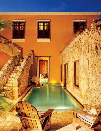 Hacienda Style Pool Area