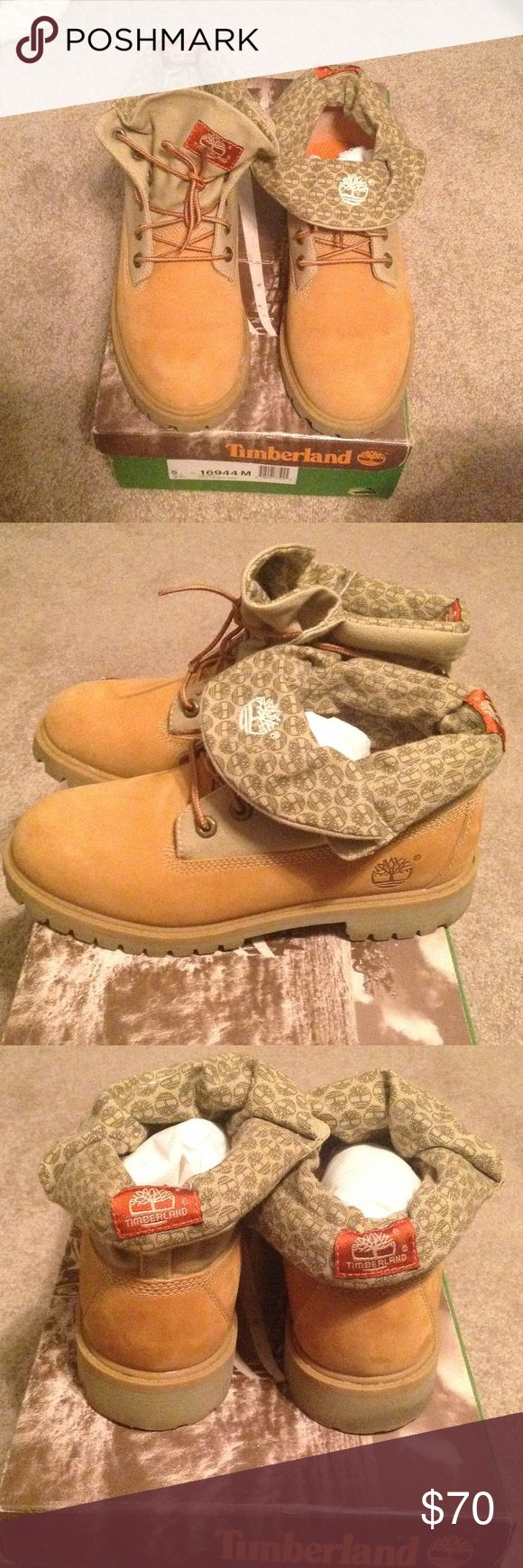 Roll top Wheat Timberlands Wheat roll top Timberland boot. Used handful of times. One scuff pictured in last picture. In really good condition Timberland Shoes Boots