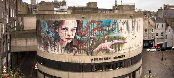 Herakut Aberdeen street art festival