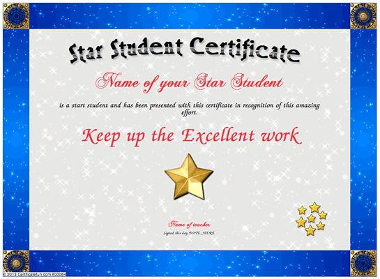 17 Best images about Certificates – Name a Star Certificate Template