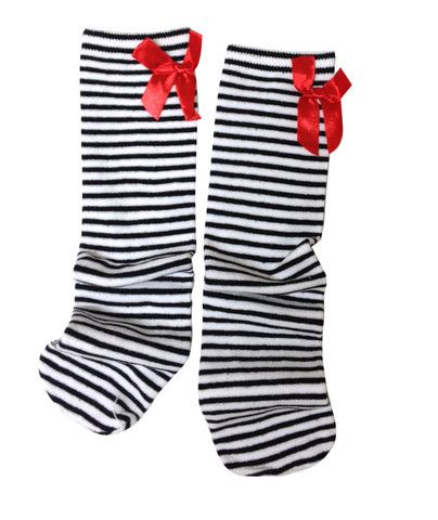 Little Bat dorothy socks with stripes and bows.