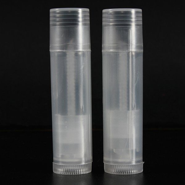50Pcs Empty Clear Lip Balm Tubes Containers Small Transparent Lipstick Bottle