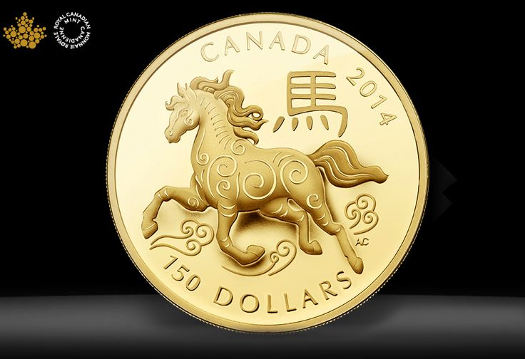 Horse coin design by Aries Cheung for Royal Canadian Mint