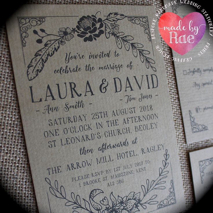 wedding invitations from michaels crafts%0A  u    Amelia u     Rustic Vintage Floral Wreath Wedding Invitations Eco Kraft Craft  Full Stationery Collection to