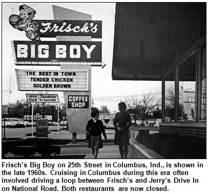 Many drive-ins became ideal for cruising, including the Tee Pee, which was nearly surrounded by pavement because of the nearby fairgrounds and East 38th Street. Description from hoosierhistorylive.com. I searched for this on bing.com/images