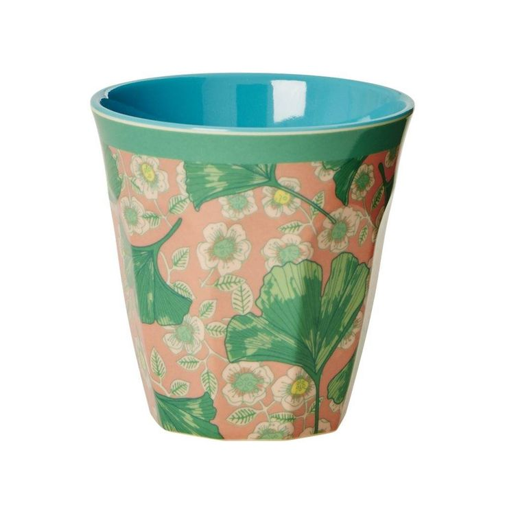 Rice Melamine beker Leaves & Flower