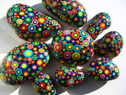 rock painting. cheap and easy. rocks free. acrylic paint in 8 or 12 ounce bottles at walmart about $2 each. paintbrushes - use qtips or old makeup brushes trimmed as needed. jh