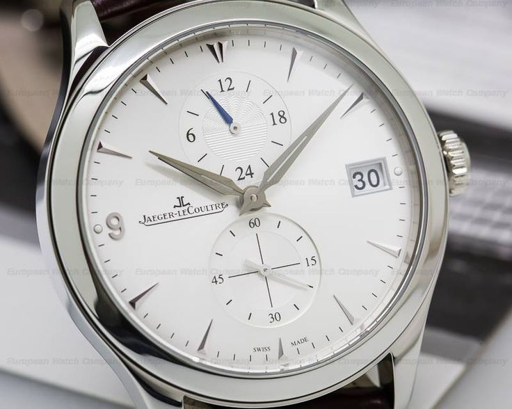 Jaeger Lecoultre 162.84.30 Master Hometime, 1628430, Q1628430, stainless steel on a strap with a stainless steel double fold-over buckle, automatic movement, second time zone, small seconds, date, night/day display (attached to local time), sapphire crystal, water resistant to to 50 meters, display back, size: 40mm, thickness: 11.5mm, Like New with Original Box and Papers which are not dated.