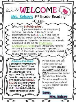 Student Welcome Letter  https://www.teacherspayteachers.com/Product/Student-Welcome-Letter-2652268