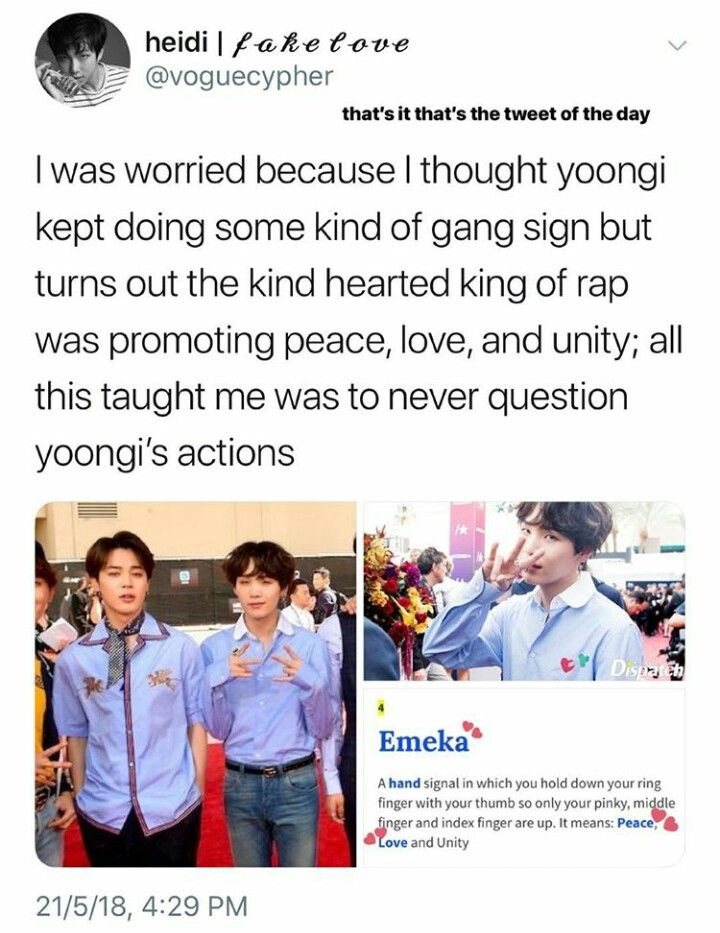 That Ain T A Gang Sign Sweety At Least Not In America Ahahahaha Bts Memes Bts Funny Bts Boys
