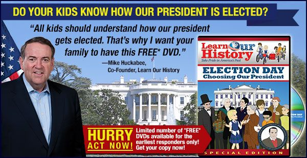 With the next presidential election coming up in 2016, wouldn't you like your kids to understand how we choose our president?  Election Day: Choosing Our President is a FREE DVD from Learn Our History that gives kids a great way to learn all about the presidential election process! http://freeelectiondvd.com/01ej15w43z01.html