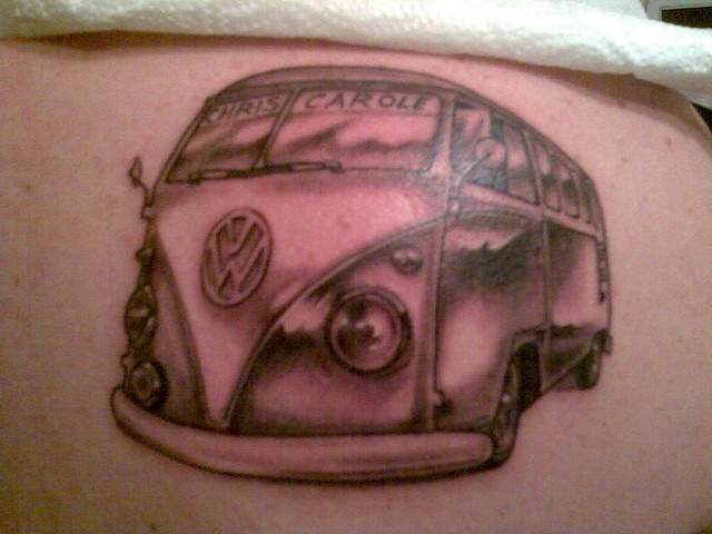volkswagen vw campervan tattoo kombi ink kombi tattoo vw tattoo pinterest volkswagen. Black Bedroom Furniture Sets. Home Design Ideas