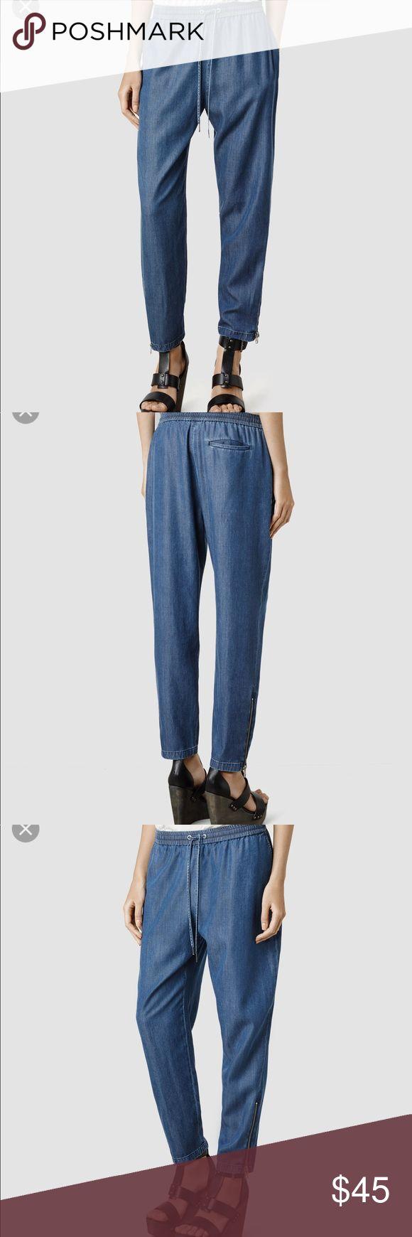 All Saints Eliza trousers Soft, faded look. US 6 All Saints Pants Trousers