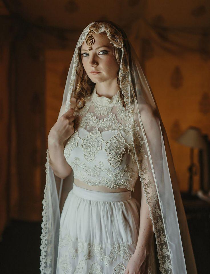 India Bride, amazing cathedral veil