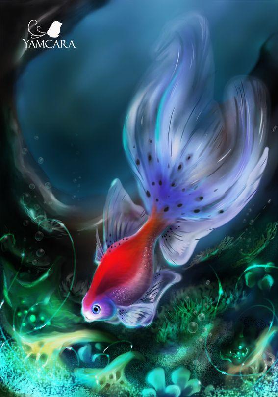 Underwater Lights By Jamcara   #ink #sketch #illustration #drawing #dibujo #sketch #art