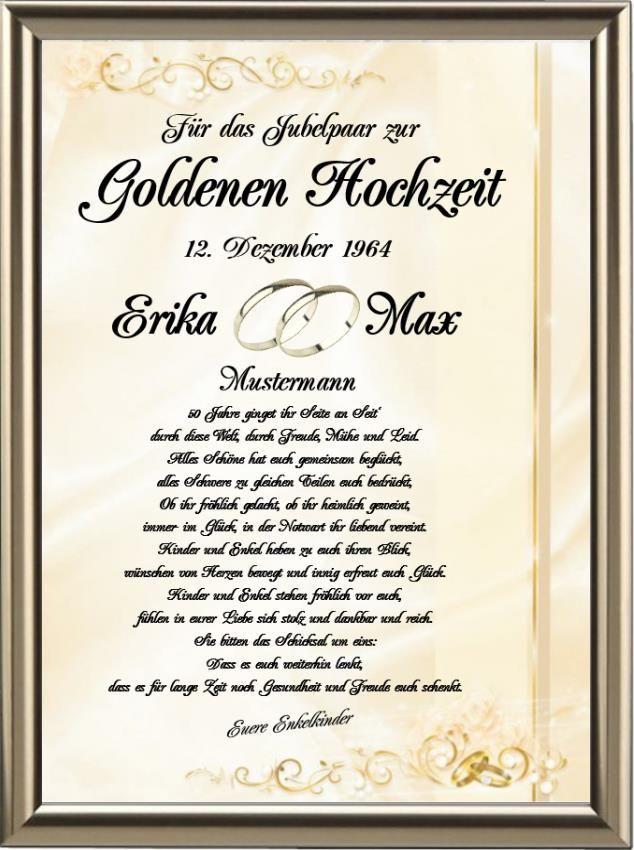 Hochzeitstagurkunde Liebe Urkunden Shop24 Hochzeit Spruche Zur Goldenen Hochzeit Geldgeschenk Goldene Hochzeit