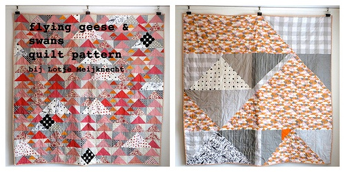 free pattern Flying Geese & Swans: for anyone who wants to try! 180x180cm (71x71 inch)