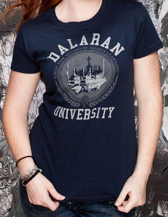 J!NX : T-shirt femme World of Warcraft Université de Dalaran