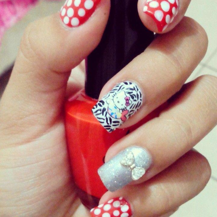 10 best diseño de uñas images on Pinterest | Nail design, Black and ...