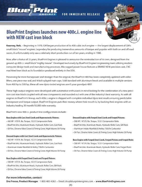 8 best blueprint gm 400 crate engines images on pinterest crate blueprint engines builds chevy and gm crate engines these crate engines are high performance drop in engines offering substantially more horsepower than malvernweather Gallery