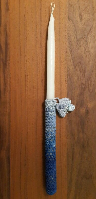 Palm Sunday Crochet Candle