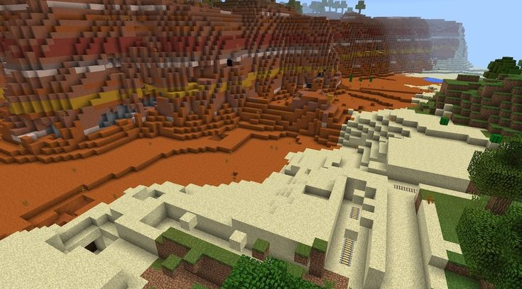 Epic Minecrafter Submission: 0.10x Mesa Biome spawn with abandoned mineshaft & lots of surface rails!
