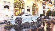 "New artwork for sale! - "" Pagani Huayra V12 Rain by PixBreak Art "" - http://ift.tt/2l2pkau"