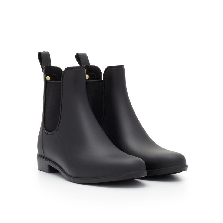 Time to brave the elements! Stay dry in style with our classic rain boot in a sophisticated Chelsea boot silhouette. Cut from classic, waterproof rubber, the 'Tinsley' slips on and off, for on-the-go style.Rain BootieSpecial Details: Pull On Tongue, Chelsea Boot, Elastic Ankle OpeningClosure: Slip OnToe: Rounded ToeMaterial: PVC or Matte PVCInsole: Synthetic