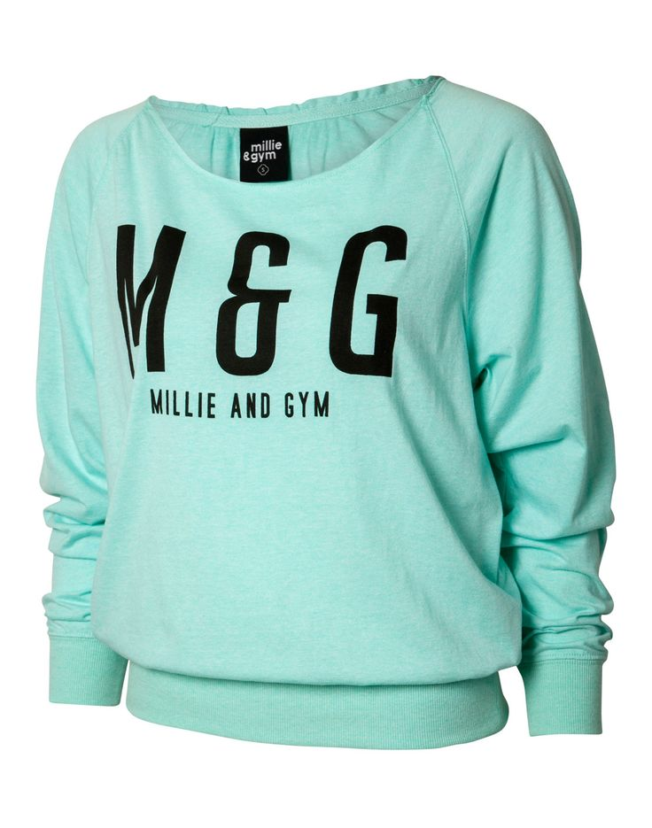 millie & gym Womens Loose Crew Sweater