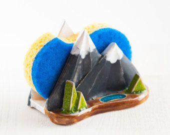 Cerámica porta esponja de cocina esponja montaña por NCeramics