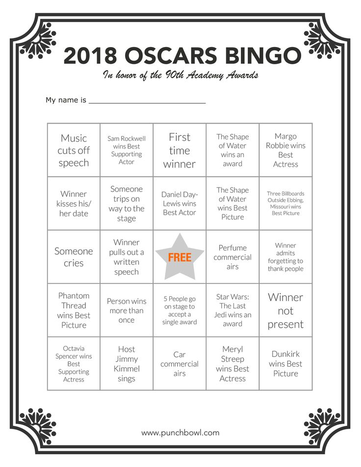 Oscarsnight is a wonderful reason to gather together with family and friends. To make sure everyone is included in the fun, entertain your guests with Academy Awards party games and contests, like Bingo!