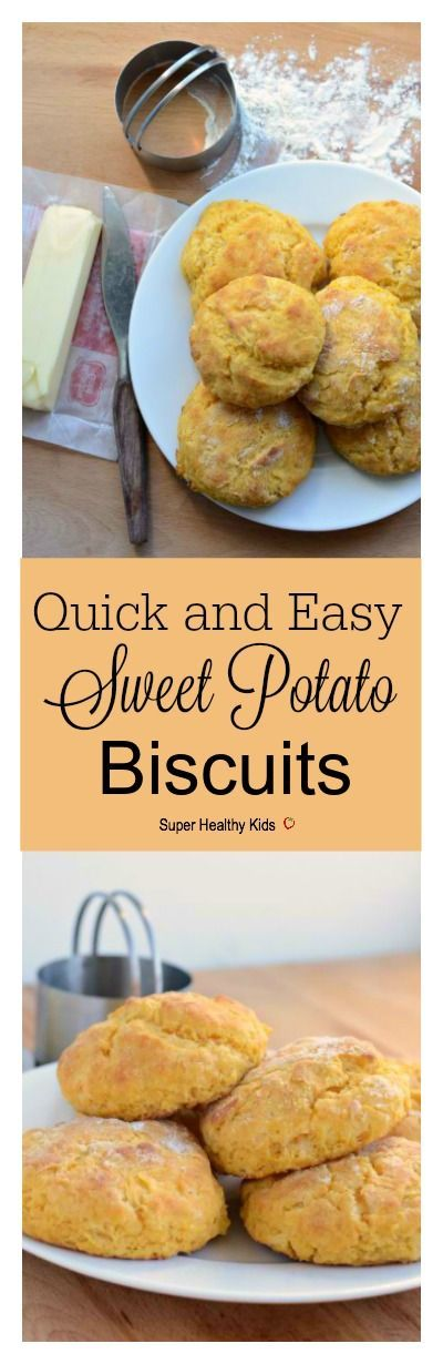 Quick and Easy Sweet Potato Biscuits. Adding the super food, sweet potatoes, gives you so much more nutrients in these delicious biscuits! http://www.superhealthykids.com/quick-easy-sweet-potato-biscuits/
